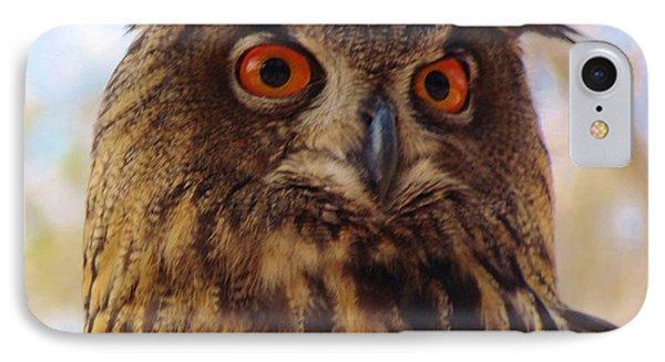 Eurasian Eagle Owl Phone Case by Cynthia Guinn
