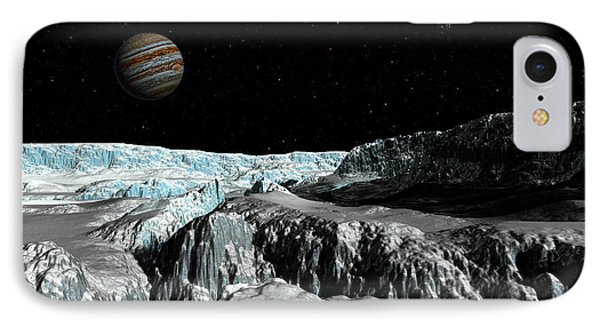 Europa's Icefield  Part 2 IPhone Case by David Robinson