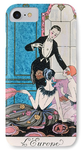 Boa Constrictor iPhone 7 Case - 'europe' Illustration For A Calendar For 1921 by Georges Barbier