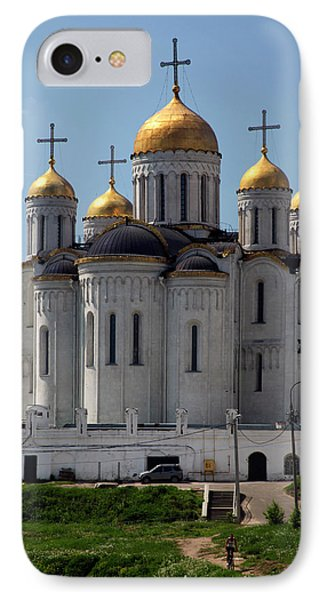 Europe, Russia Vladimir Cathedral IPhone Case by Kymri Wilt