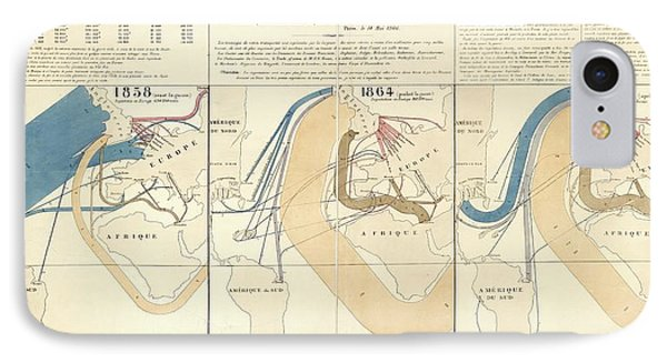 European Cotton Imports IPhone Case by Library Of Congress, Geography And Map Division
