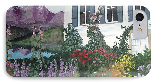 IPhone Case featuring the painting European Flower Garden by Norm Starks
