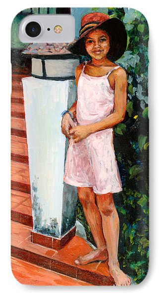 Eva, 2006 Oil On Canvas IPhone Case by Tilly Willis