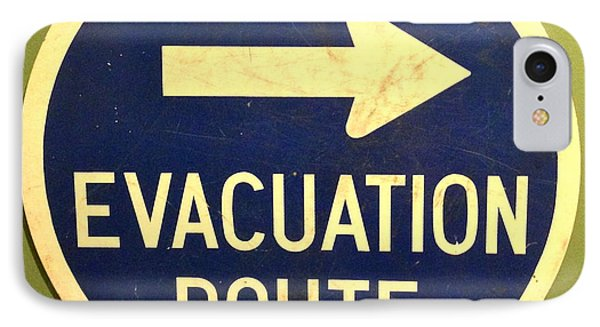 Evacuation Route IPhone Case by M West