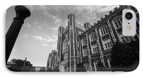 Evans Hall In Black And White IPhone Case by Nathan Hillis