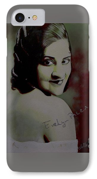 Evelyn Preer IPhone Case by Chelle Brantley