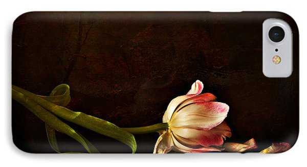 Even Though A Flower Fades Phone Case by Theresa Tahara