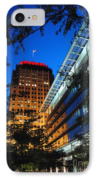 Evening At Ppl Plaza - Allentown Pa  Vertical IPhone Case by Jacqueline M Lewis