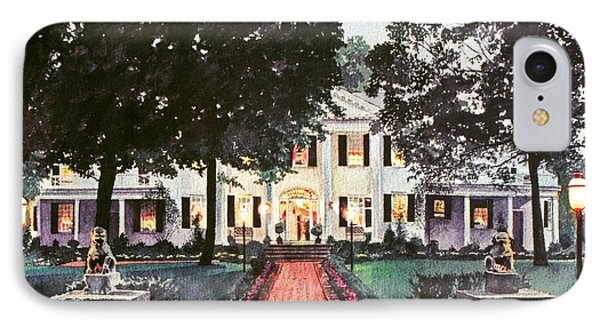 Evening At The Governor's Mansion IPhone Case by David Lloyd Glover