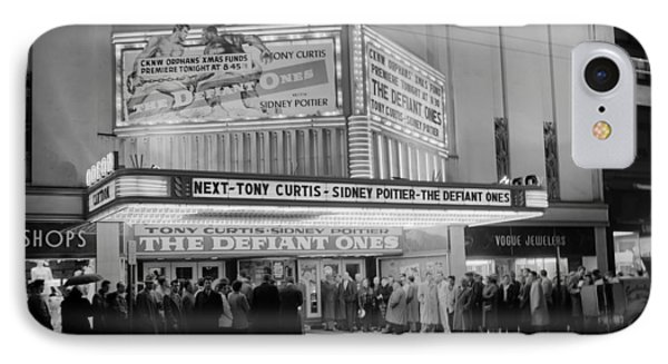 Evening At The Theatre - Vancouver 1958 IPhone Case by Mountain Dreams