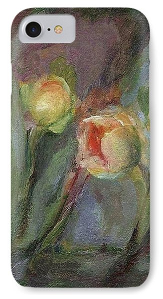 IPhone Case featuring the painting Evening Bloom by Mary Wolf