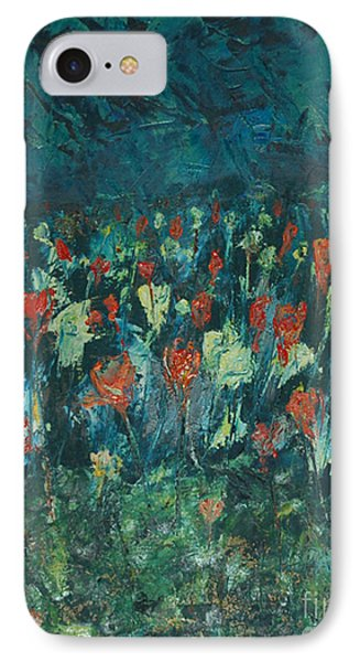 IPhone Case featuring the painting Evening Buds by Mini Arora