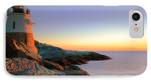 Evening Calm At Castle Hill Lighthouse Phone Case by Roupen  Baker