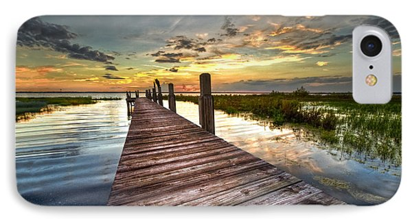 Evening Dock IPhone Case by Debra and Dave Vanderlaan