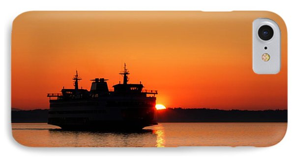 Evening Ferry IPhone Case