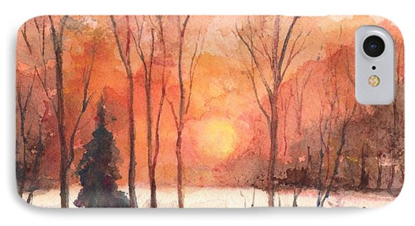The Evening Glow IPhone Case by Carol Wisniewski