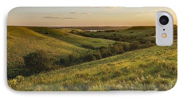 Evening Glow  In The Flint Hills IPhone Case by Scott Bean