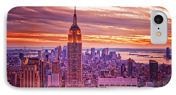 Evening In New York City Phone Case by Sabine Jacobs