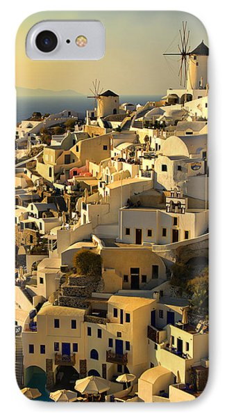 IPhone Case featuring the photograph evening in Oia by Meirion Matthias