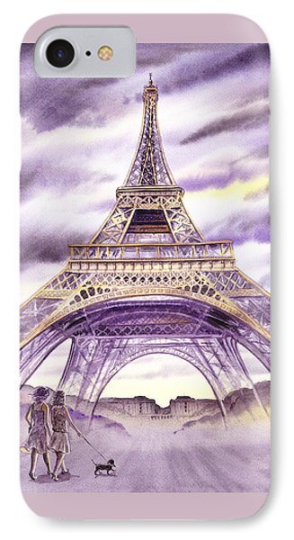 Evening In Paris A Walk To The Eiffel Tower IPhone 7 Case