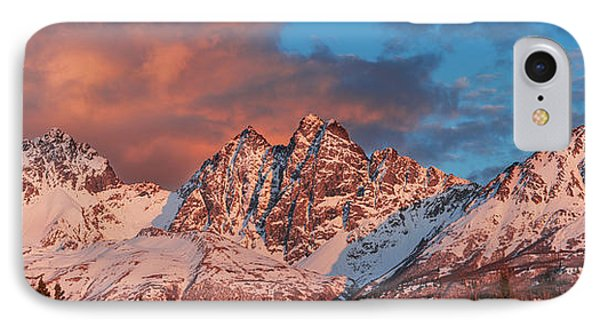 Evening Light On Twin Peaks And Pioneer IPhone Case by Carl Johnson