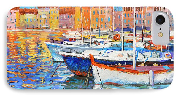 IPhone Case featuring the painting Evening Lights by Dmitry Spiros