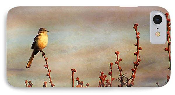 Evening Mocking Bird Phone Case by Darren Fisher
