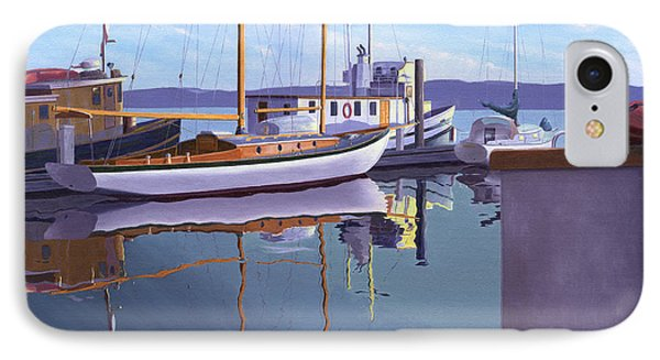 Evening On Malaspina Strait IPhone Case by Gary Giacomelli