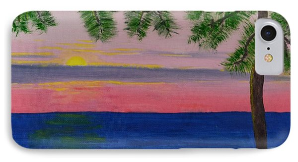 Evening On Mobile Bay IPhone Case by Melvin Turner