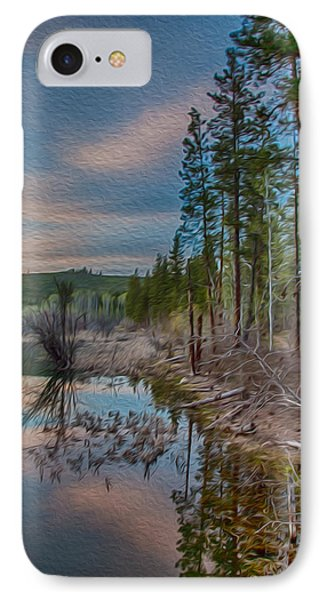 Evening On The Banks Of A Beaver Pond Phone Case by Omaste Witkowski
