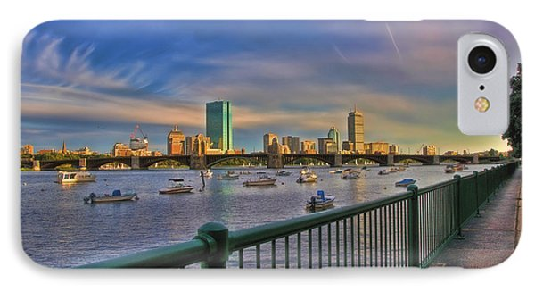 Evening On The Charles - Boston Skyline IPhone Case by Joann Vitali