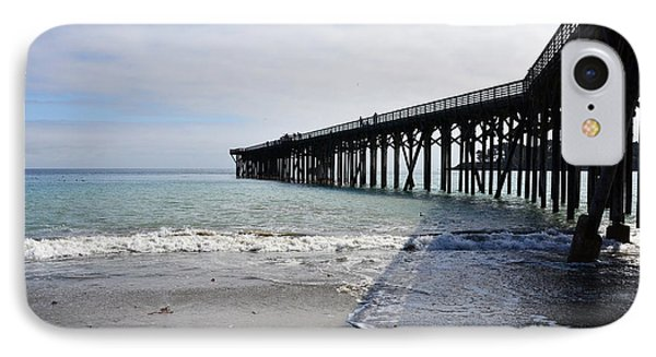 IPhone Case featuring the photograph Evening Pier Shadows Are Lost In The Surf by Debby Pueschel