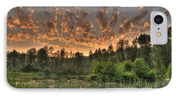 IPhone Case featuring the photograph Evening Pond by Jeff Cook