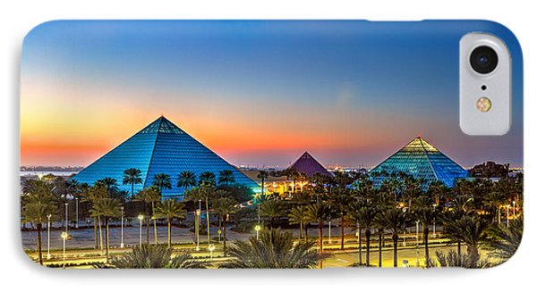 Evening Pyramids IPhone Case by Tim Stanley