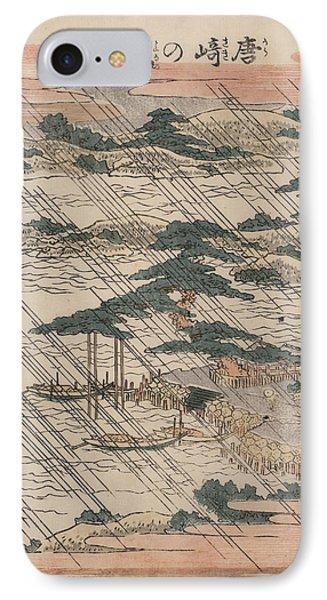 Evening Rain At Karasaki Phone Case by Georgia Fowler