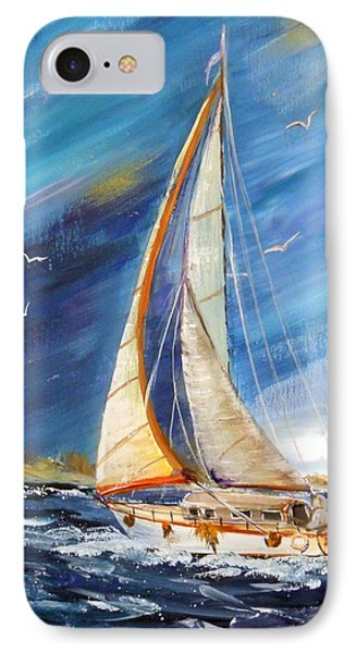 Evening Sailing IPhone Case by Dorothy Maier