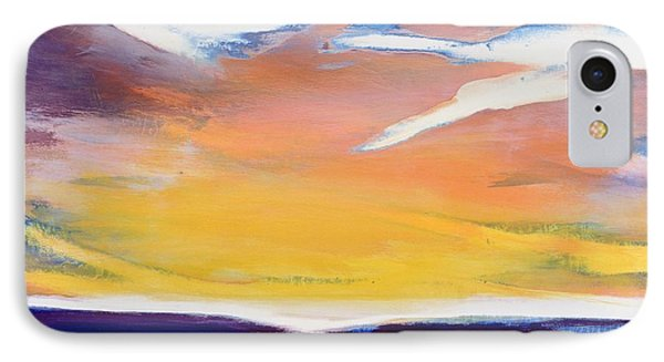 Evening Seascape Phone Case by Lou Gibbs