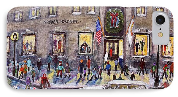 Evening Shopping At Grover Cronin IPhone Case by Rita Brown