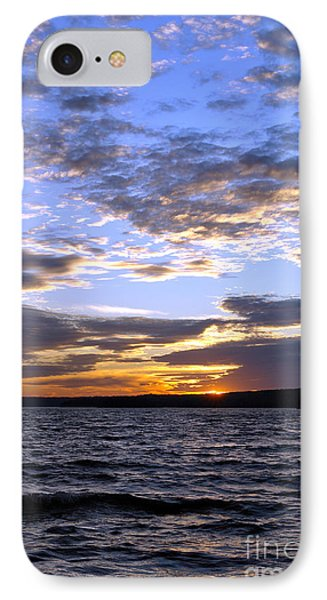 Evening Sky Over Lake Phone Case by Olivier Le Queinec