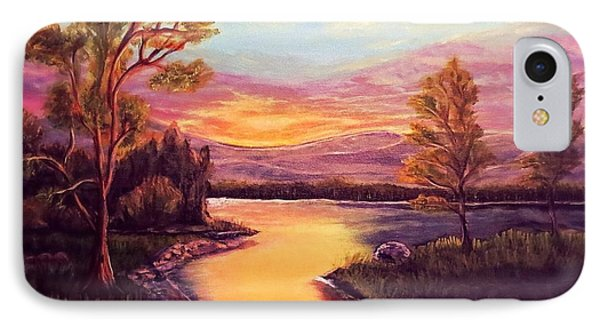 Evening Sun Sets Over A Lake Somewhere Off The Gulf Of Mexico IPhone Case by Kimberlee Baxter