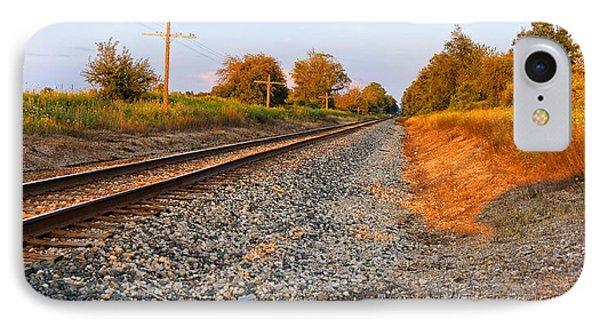 Evening Tracks IPhone Case by Lars Lentz