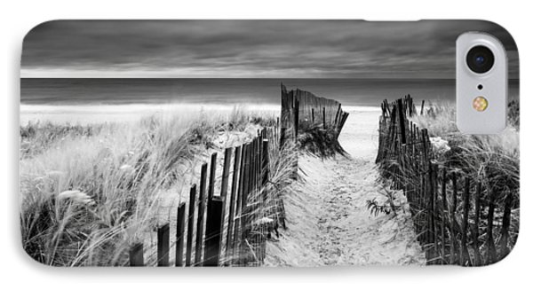 Evening Wave Check Bw IPhone Case by Ryan Moore