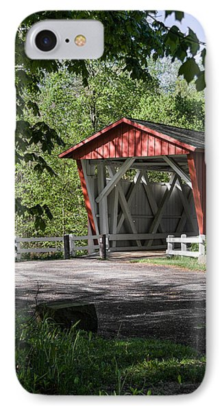 Everett Rd Covered Bridge IPhone Case by Dale Kincaid