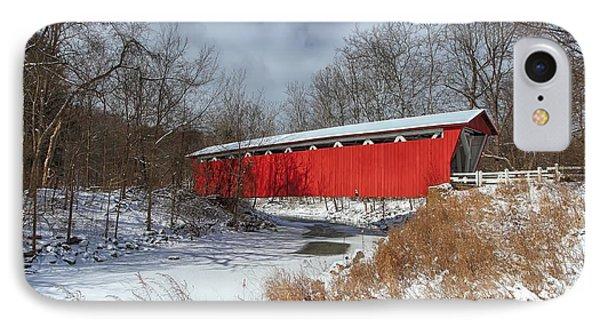 Everett Rd. Covered Bridge Phone Case by Daniel Behm