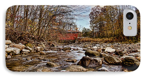Everett Rd Covered Bridge Phone Case by Jack R Perry