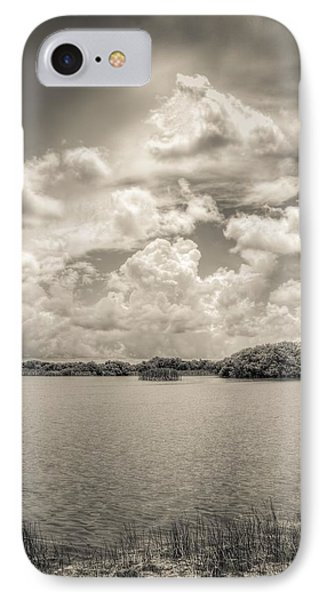 Everglades Lake 6919 Bw IPhone Case