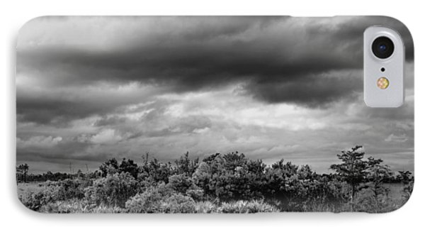 Everglades Storm Bw Phone Case by Rudy Umans