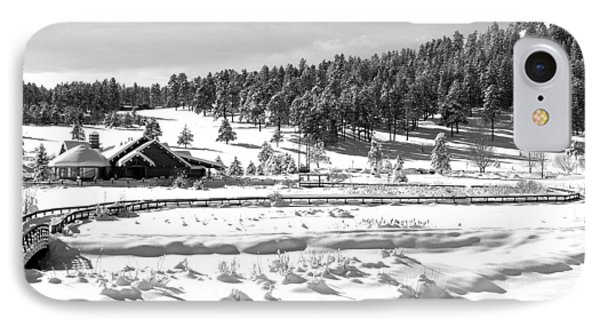 Evergreen Lake House In Winter Phone Case by Ron White