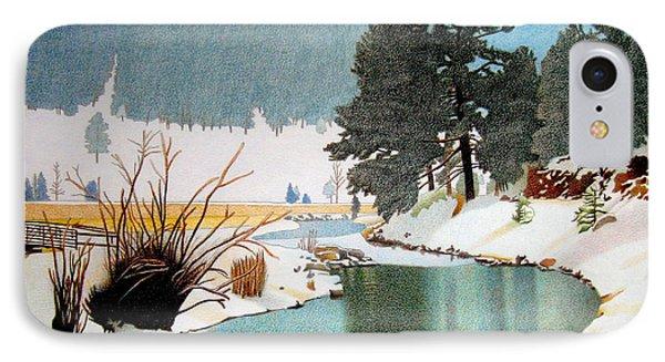 Evergreen Lake Winter IPhone Case by Dan Miller