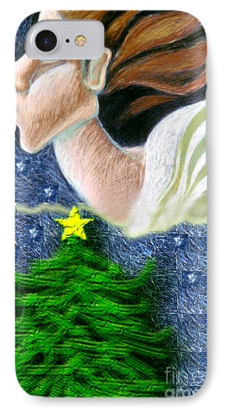Everseeing Christmas Angel Phone Case by Genevieve Esson